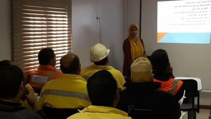 دورة أعضاء لجان السلامة والصحة المهنية والتى تم تنفيذها بشركة هارسكوميتالز ( HARSCO ) السويس داخل شركة حديد عز