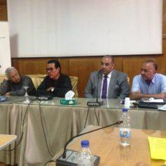 فاعليات الدورة التدريبية التى عقدتها النقابة العامة بالتعاون مع منظمة العمل الدولية حول التأمينات الاجتماعية