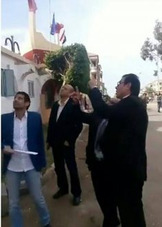 زيارة الاستاذ عبد الفتاح ابراهيم لفرع الجامعة العمالية براس البر اليوم السبت الموافق 18/11/2017