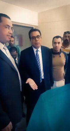 جولة الاستاذ عبد الفتاح ابراهيم بفرع الجامعة بالمنصورة