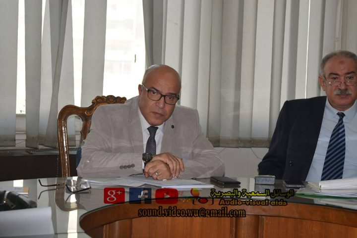 اجتماع الاستاذ جمال حسان مدير عام المؤسسة الثقافية العمالية بممثلي السلامة والصحة المهنية