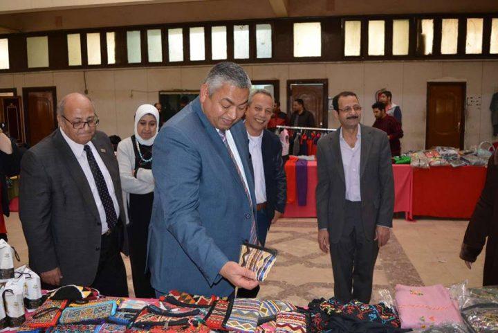 افتتاح معرض ملابس واحذية ومفروشات ومنتجات يدوية بالمؤسسه الثقافيه العماليه