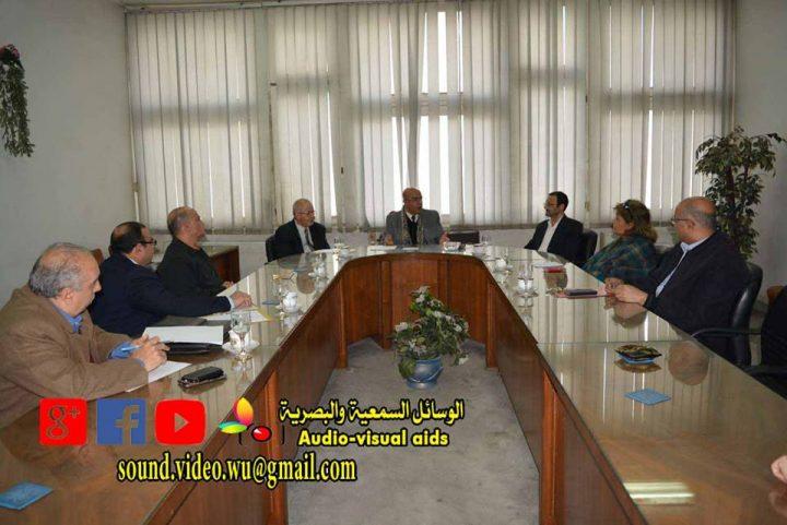 اجتماع عمداء المعاهد مع الاستاذ جمال حسان مدير عام المؤسسة الثقافية العمالية