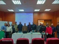 بدأ فعاليات دورة أعضاء لجان السلامة والصحة المهنيه كليه هندسه لجامعه سيناء