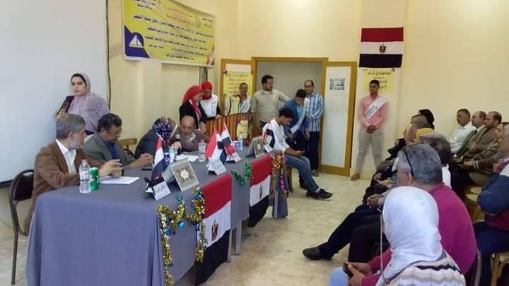احتفالات النصر بشهر اكتوبر الذي عقده قصر ثقافة دمياط بالتعاون مع الجامعة العمالية برأس البر