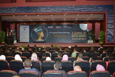 مشاركة طلاب الجامعة العمالية في يوم المهندس المصري الثامن عشر يقاعة المؤتمرات بجامعة الأزهر وذلك بحضور وزير الاتصالات